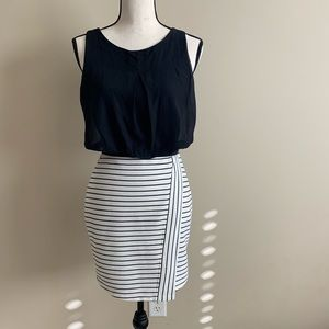 🌷Cute black and white dress by Speechless